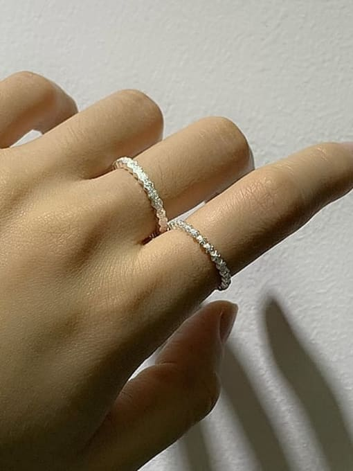 ARTTI 925 Sterling Silver Minimalist Five Pointed Star  Band Ring 3