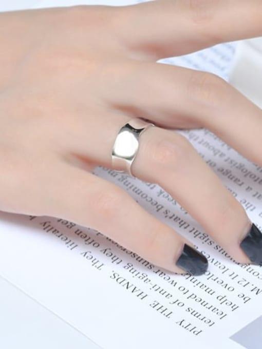 ARTTI 925 Sterling Silver Irregular Minimalist Band Ring 1