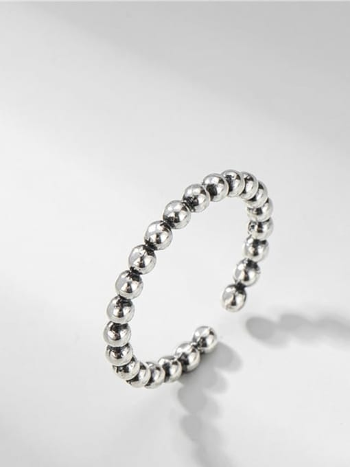 ARTTI 925 Sterling Silver Bead Round Vintage Band Ring 0