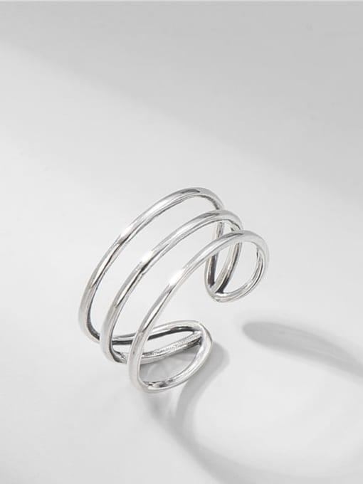 ARTTI 925 Sterling Silver Irregular Minimalist Stackable Ring 0
