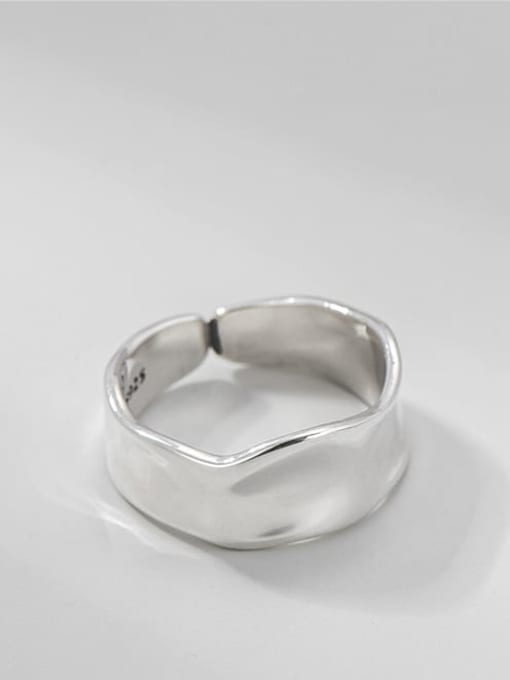 Textured ring 925 Sterling Silver Irregular Minimalist Band Ring