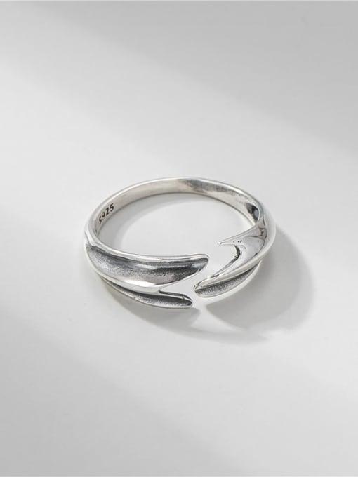 ARTTI 925 Sterling Silver Irregular Vintage Mermaid Tail  Ring 0