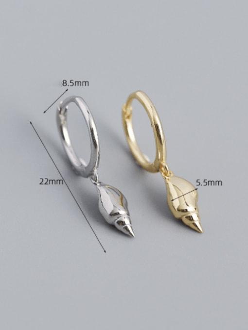 ACE 925 Sterling Silver Rhinestone Irregular Vintage Huggie Earring 1