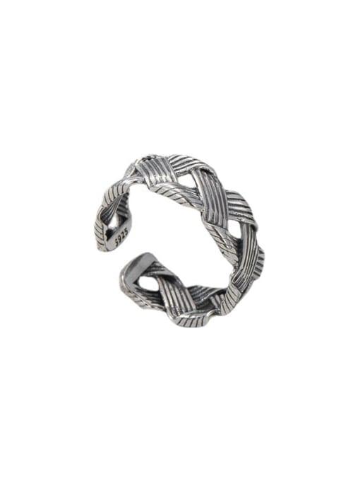 ARTTI 925 Sterling Silver Geometric Vintage Midi Ring 3