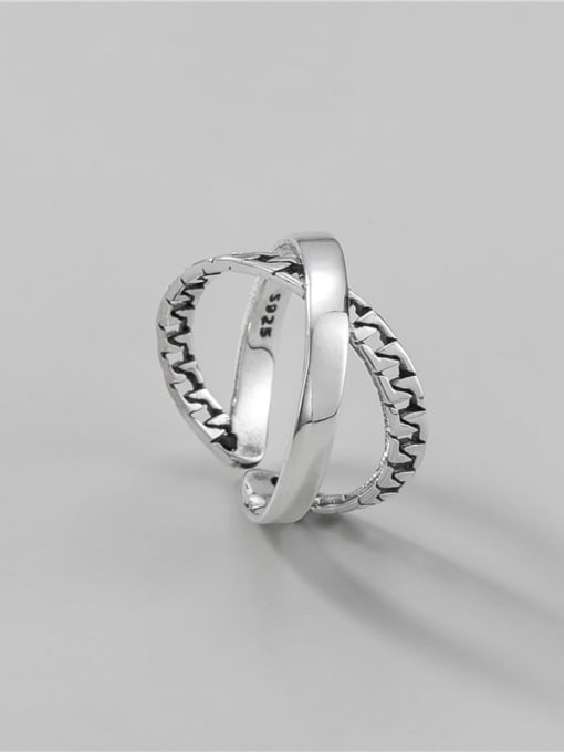 ARTTI 925 Sterling Silver Cross Vintage Stackable Ring 0