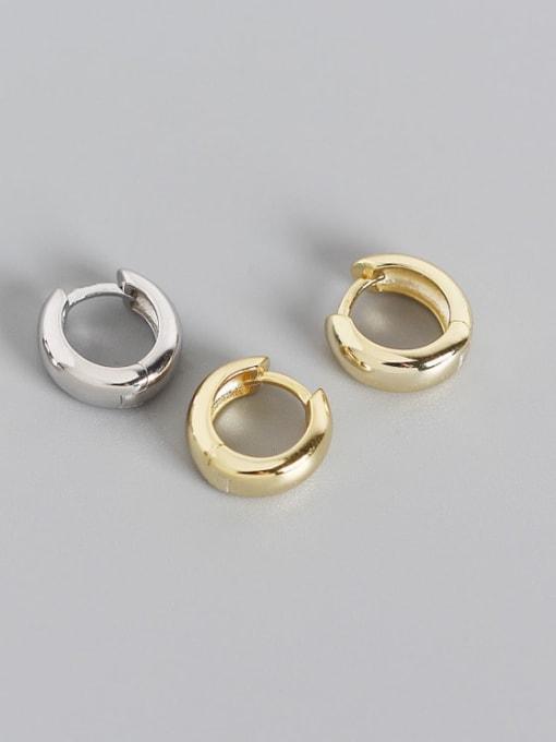 ACE 925 Sterling Silver Geometric Minimalist Huggie Earring