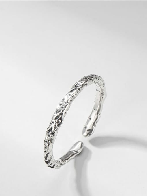 Texture ring 925 Sterling Silver Round Vintage Band Ring