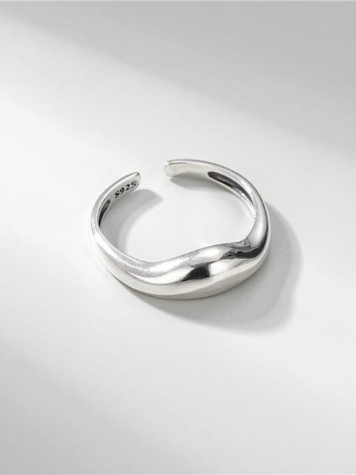 Water drop ring 925 Sterling Silver Irregular Minimalist Band Ring