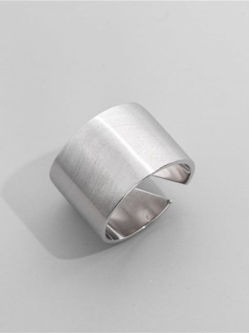 Wide ring 925 Sterling Silver Geometric Minimalist Band Ring