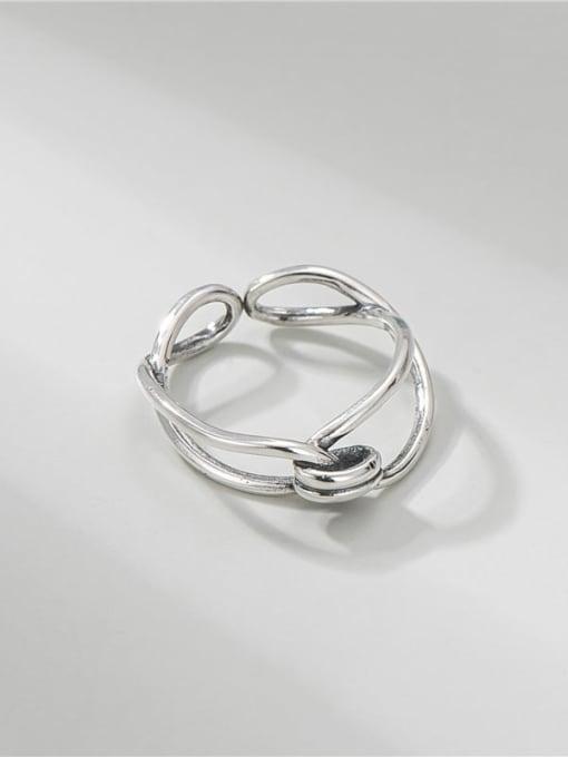ARTTI 925 Sterling Silver Geometric Vintage Band Ring 2