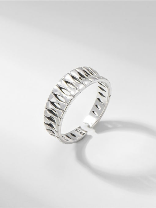 Thai silver ring 925 Sterling Silver Geometric Vintage Band Ring
