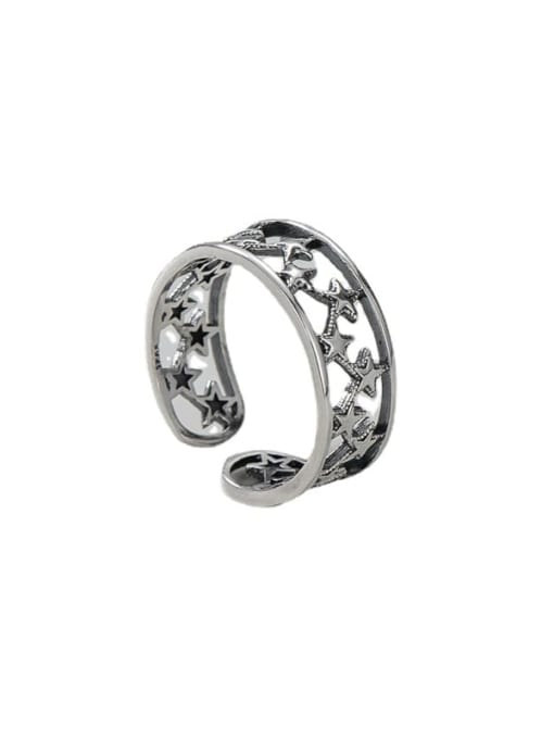 ARTTI 925 Sterling Silver Star Vintage Band Ring 3