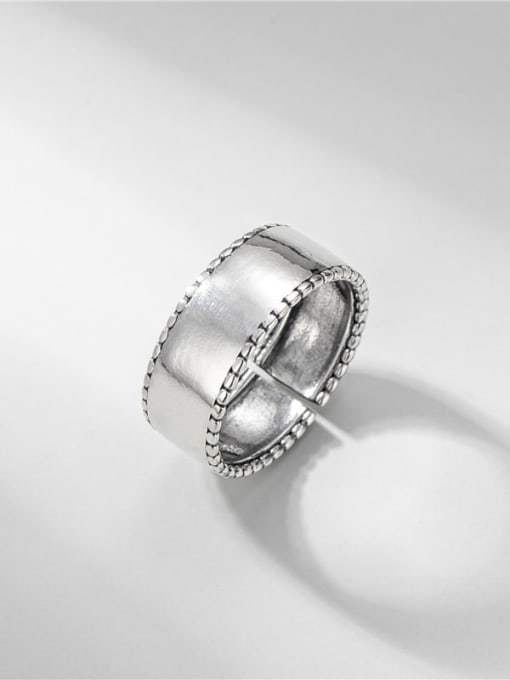 Smooth ring 925 Sterling Silver Smooth Geometric Vintage Band Ring