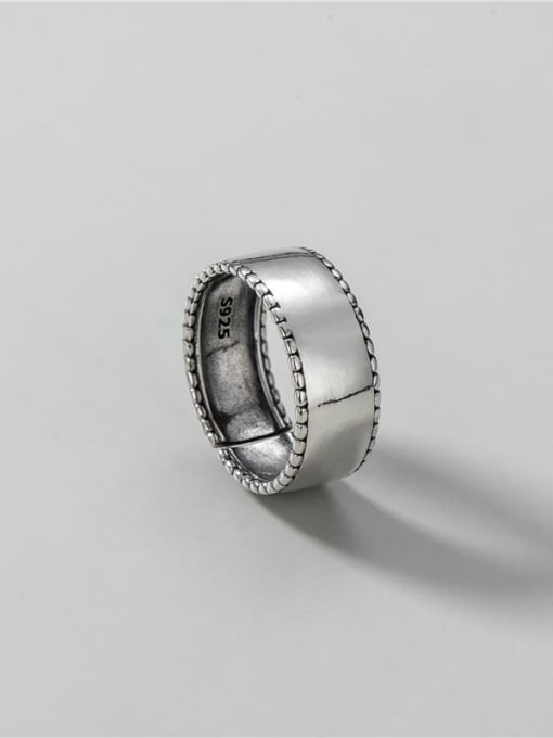 ARTTI 925 Sterling Silver Smooth Geometric Vintage Band Ring 3