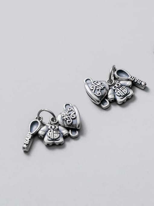 FAN 925 Sterling Silver Hat Clothes Spoon Charm 0
