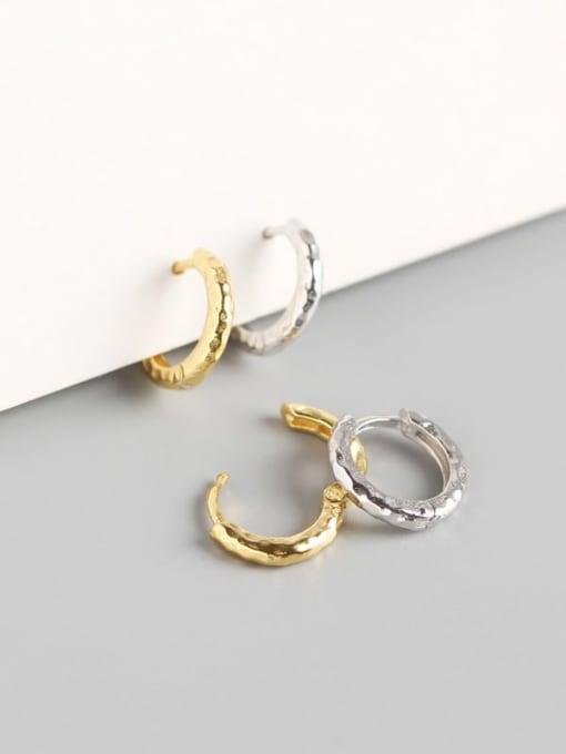 ACE 925 Sterling Silver Geometric Luxury Huggie Earring 1