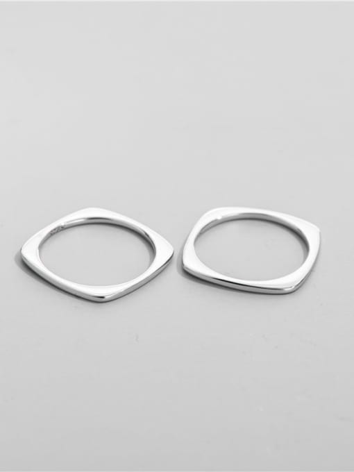 ARTTI 925 Sterling Silver Geometric Minimalist Band Ring 1