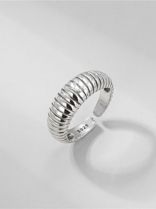 Ox horn bag ring 925 Sterling Silver Irregular Vintage Band Ring