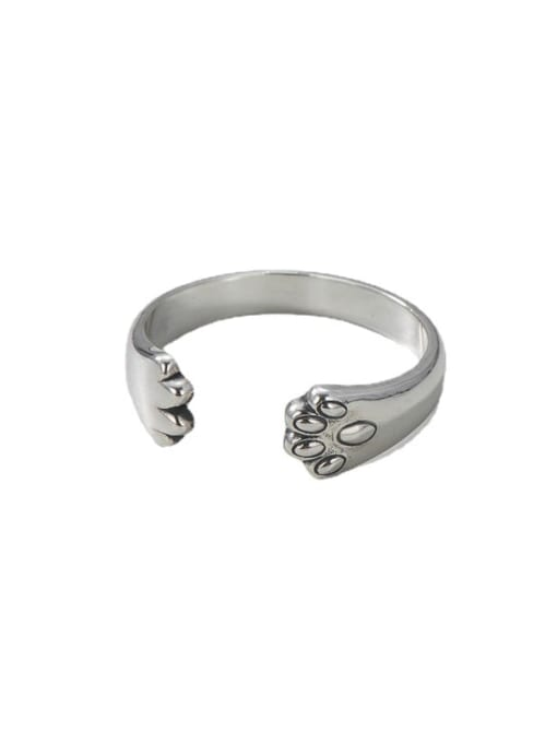 ARTTI 925 Sterling Silver Irregular Vintage Cat Claw  Band Ring 3