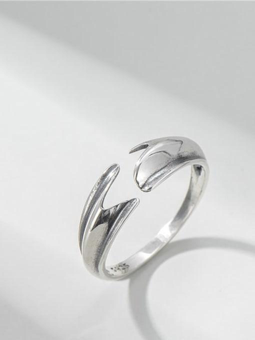 Mermaid tail ring 925 Sterling Silver Irregular Vintage Mermaid Tail  Ring
