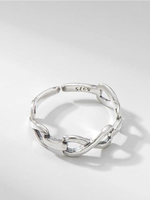 Knot ring 925 Sterling Silver Irregular Vintage Band Ring