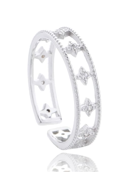ARTTI 925 Sterling Silver Cubic Zirconia Star Minimalist Stackable Ring 2