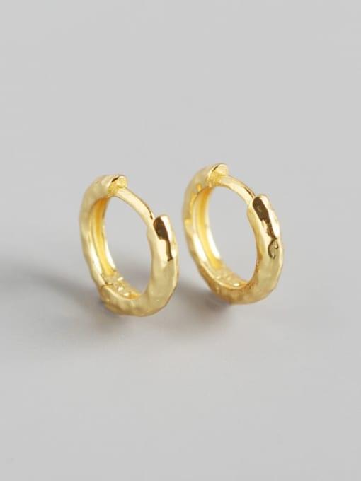 2#Gold 925 Sterling Silver Geometric Luxury Huggie Earring