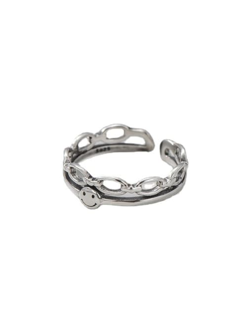 ARTTI 925 Sterling Silver Smiley Vintage Stackable Ring 3
