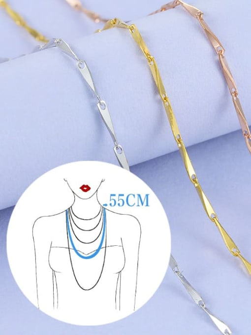 Supply 925 Sterling Silver Lengthen Melon Seed Chain 2