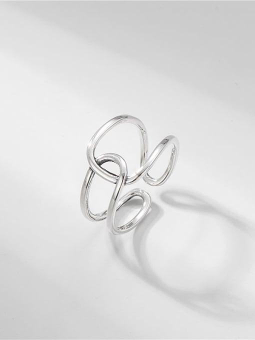 ARTTI 925 Sterling Silver Geometric Vintage Band Ring 0