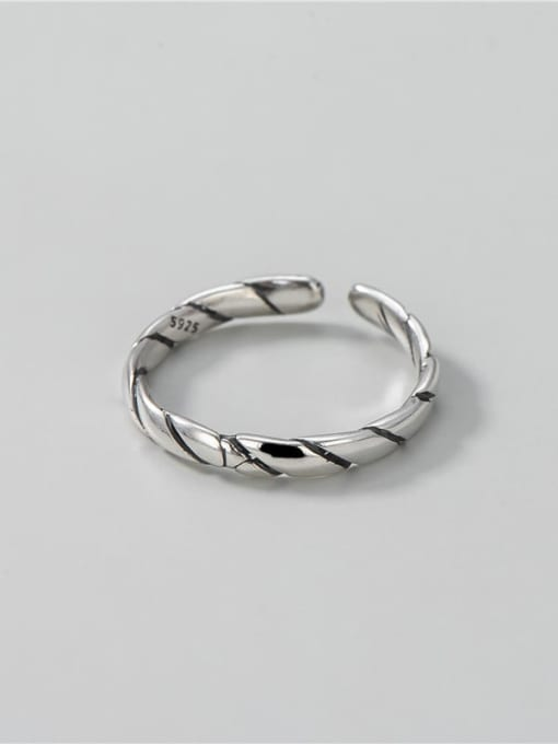 ARTTI 925 Sterling Silver Round Vintage Band Ring 3