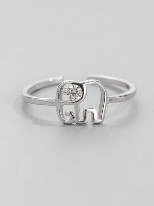 ARTTI 925 Sterling Silver Elephant Minimalist Band Ring