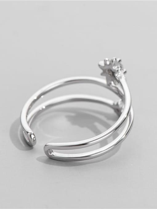 ARTTI 925 Sterling Silver Rhinestone Irregular Vintage Stackable Ring 2