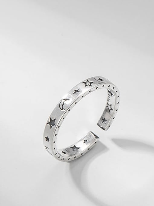 ARTTI 925 Sterling Silver Star Vintage Band Ring