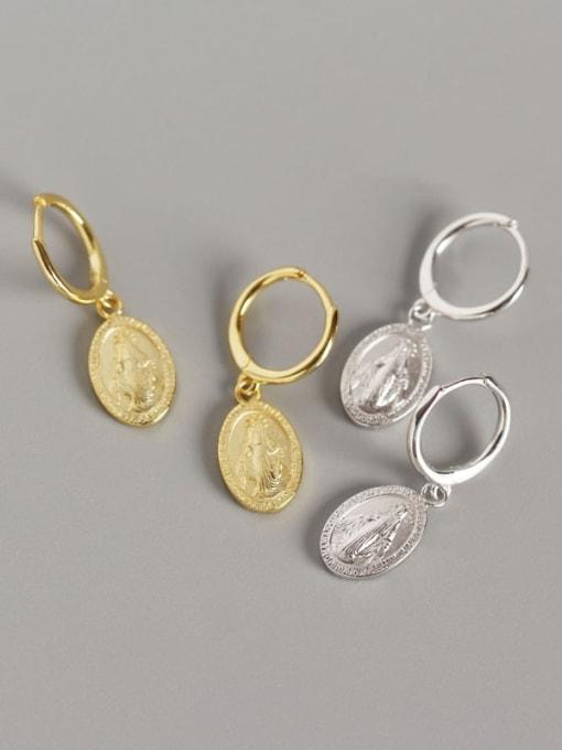 ACE 925 Sterling Silver Geometric Vintage Huggie Earring 0