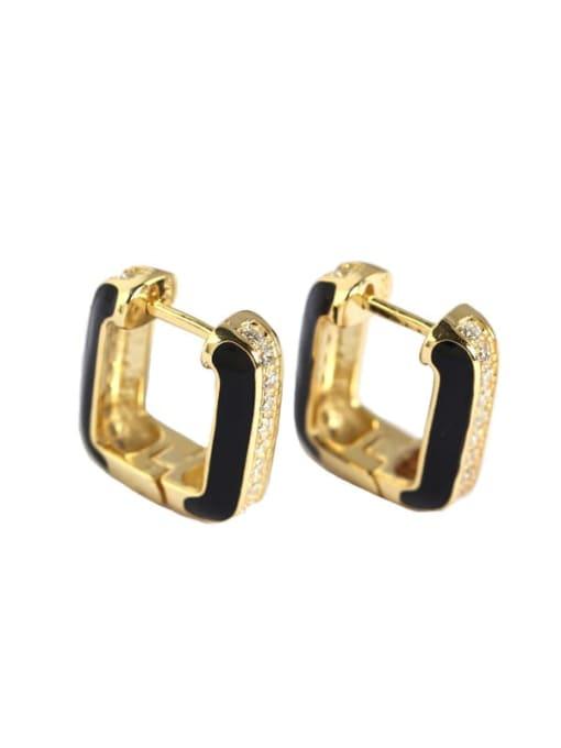 ACE 925 Sterling Silver Cubic Zirconia Geometric Artisan Stud Earring 3