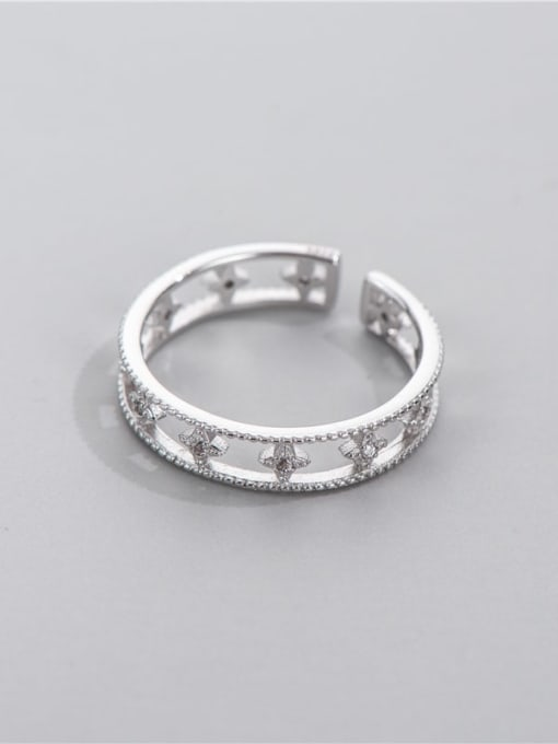 ARTTI 925 Sterling Silver Cubic Zirconia Star Minimalist Stackable Ring 1