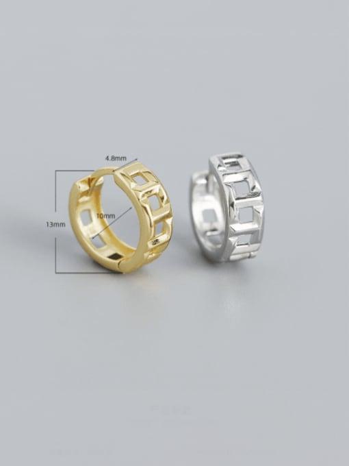 ACEE 925 Sterling Silver Geometric Vintage Huggie Earring 3