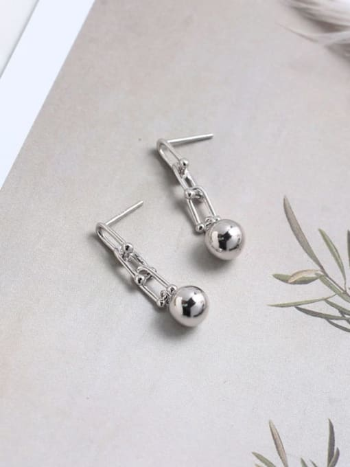 ACE 925 Sterling Silver Bead Geometric Vintage Drop Earring 3