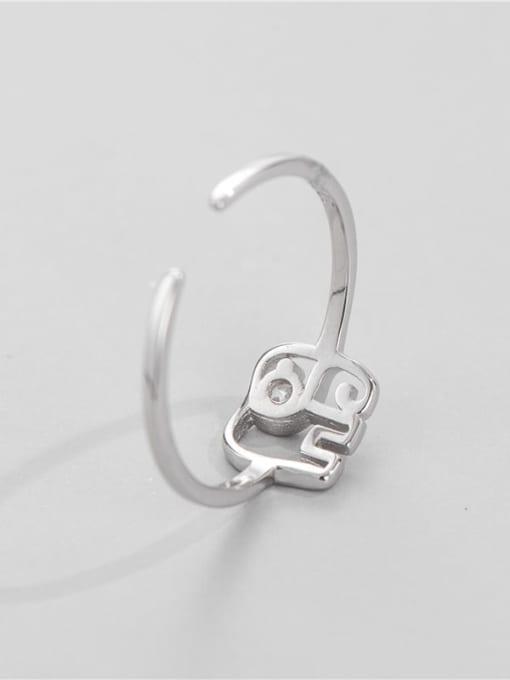 ARTTI 925 Sterling Silver Elephant Minimalist Band Ring 1