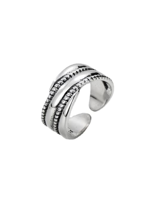 ARTTI 925 Sterling Silver Geometric Vintage Stackable Ring 1