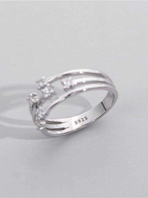 ARTTI 925 Sterling Silver Geometric Minimalist Stackable Ring 2
