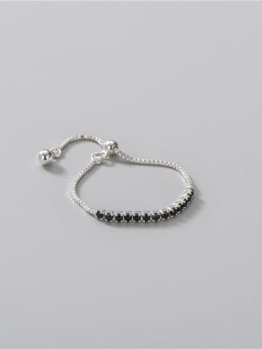 ARTTI 925 Sterling Silver Cubic Zirconia Geometric Minimalist Band Ring 2