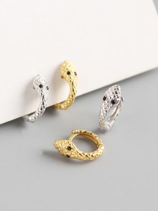 ACE 925 Sterling Silver Snake Trend Huggie Earring 1