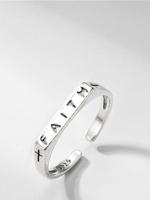 Cross Ring 925 Sterling Silver Geometric Minimalist Band Ring