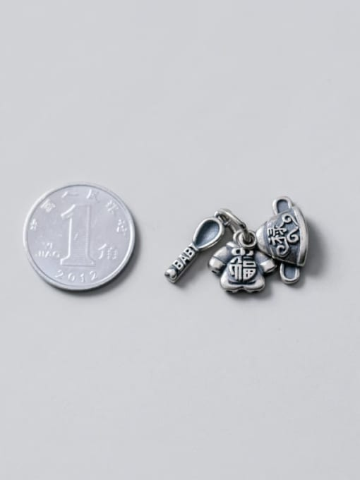 FAN 925 Sterling Silver Hat Clothes Spoon Charm 2