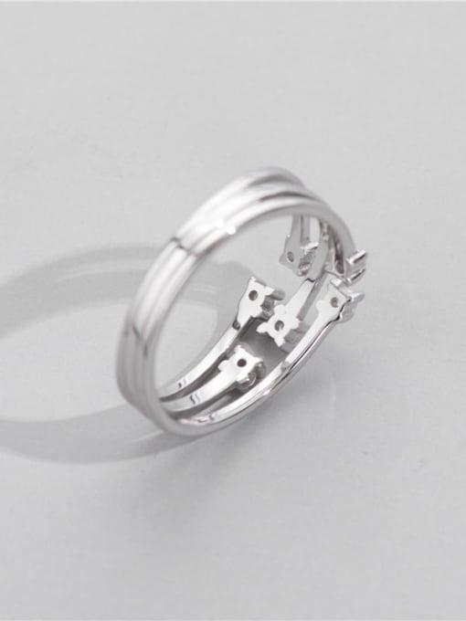 ARTTI 925 Sterling Silver Geometric Minimalist Stackable Ring 1