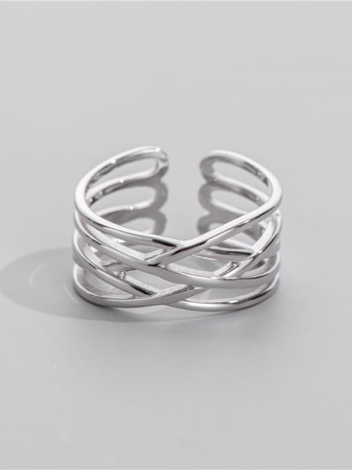 ARTTI 925 Sterling Silver Geometric Minimalist Stackable Ring 0