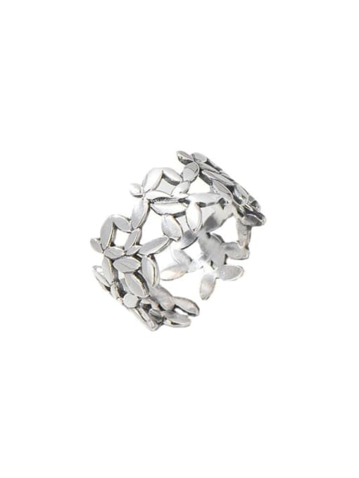 ARTTI 925 Sterling Silver Flower Vintage Band Ring 2