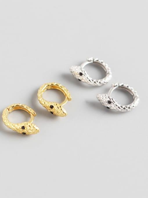 ACE 925 Sterling Silver Snake Trend Huggie Earring 0